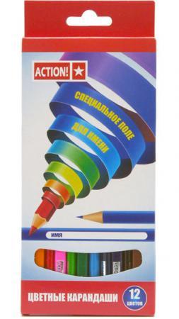 цена Набор цветных карандашей Action! ACP220-12 12 шт ACP220-12
