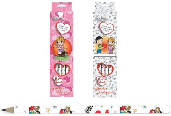 Набор цветных карандашей Action! Love is 6 шт 180 мм LI-ACP205-6 в ассортименте LI-ACP205-6 набор цветных карандашей action strawberry shortcake 6 шт sw acp205 06 sw acp205 06