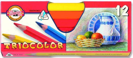 Набор цветных карандашей Koh-i-Noor TrioColor 12 шт 17.5 см 3152/12 KS 3152/12 KS