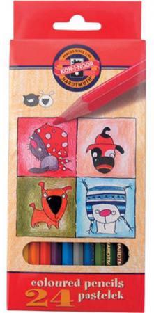 цены Набор цветных карандашей Koh-i-Noor Кошки+Собаки 24 шт 3594/24 5 KS