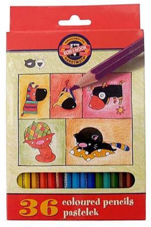 Набор цветных карандашей Koh-i-Noor Кошки+собаки 36 шт односторонние 3595/36 5 KS 3595/36 5 KS набор цветных карандашей universal carioca 24 шт 17 5 см односторонние 40381 точилка 40381