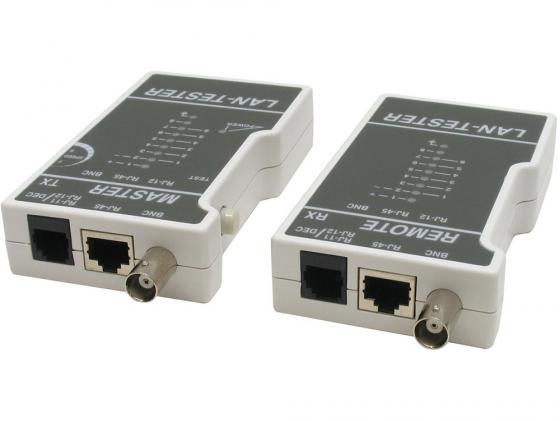 Тестер LT-100 для тестер для витой пары, коаксиального и телефонного кабеля. тестер аккумулятора master mst sos1