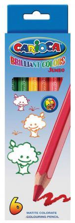 Фото - Набор цветных карандашей Universal Carioca Jumbo 6 шт односторонние 41407/6 41407/6 набор цветных карандашей universal carioca jumbo 12 шт 41406 12
