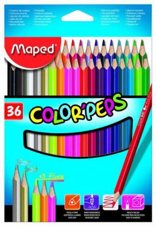 Набор цветных карандашей Maped Color Peps 36 шт 832017