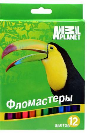 Набор фломастеров Action! ANIMAL PLANET 12 шт разноцветный AP-AWP105-12