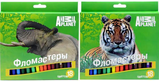 Набор фломастеров ACTION! ANIMAL PLANET цв. вентил. колпачки, 18 цв., картон с европодвесом AP-AWP105-18