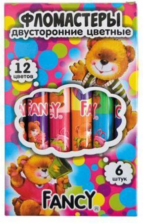 Набор фломастеров Action! FANCY 6 шт разноцветный двусторонние, FWP321-6