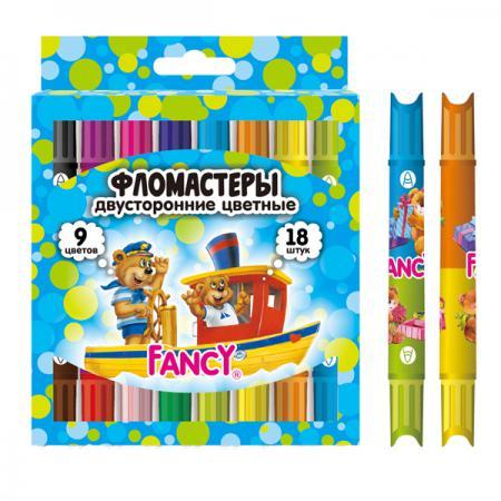 Набор фломастеров Action! FANCY 9 шт разноцветный двусторонние, FWP321-9 FWP321-9 набор фломастеров action fancy 2в1 20 шт разноцветный