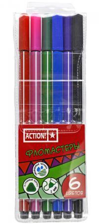 Набор фломастеров Action! AWP151-06 2 мм 6 шт разноцветный AWP151-06 набор фломастеров action awp151 12 2 мм 12 шт разноцветный awp151 12 page 5