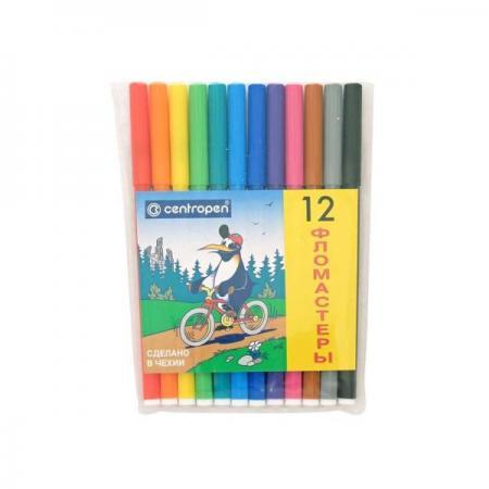 Набор фломастеров Centropen ПИНГВИНЫ 12 шт разноцветный 7790/12-86 7790/12-86 набор фломастеров centropen пингвины 30 шт разноцветный 7790 30 86 7790 30 86