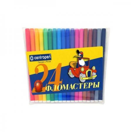 Набор фломастеров Centropen ПИНГВИНЫ 24 шт разноцветный 7790/24-86