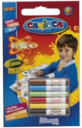 Набор фломастеров Universal CARIOCA FANTALBUM 6 шт разноцветный 41999 + 20 раскрасок 41999 набор фломастеров universal carioca joy 1 мм 6 шт разноцветный 40613 6 40613 6