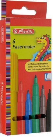 Набор фломастеров Herlitz Дракон 6 шт разноцветный 8649030 herlitz магнит для досок smileyworld 6 шт