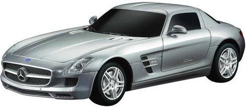 Машинка на радиоуправлении Rastar Mercedes SLS AMG ассортимент от 8 лет пластик в ассортименте 40100 rastar 1 18 mercedes benz sls amg 54100 серебристый
