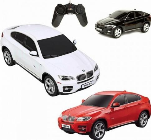 Машинка на радиоуправлении Rastar BMW Х6 1:24 ассортимент от 3 лет пластик в ассортименте 31700 машинка на радиоуправлении rastar bmw i8 свет 1 14 ассортимент от 3 лет пластик в ассортименте 49600 11