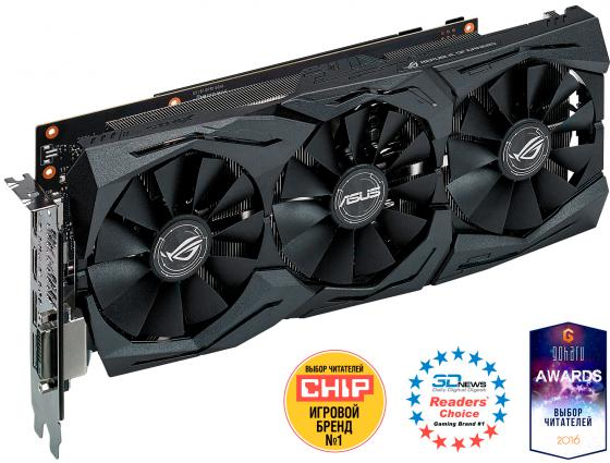 Видеокарта 6144 Mb ASUS GeForce GTX1060 PCI-E 192bit GDDR5 DVI HDMI DisplayPort  STRIX-GTX1060-6G-GAMING Retail видеокарта asus nvidia geforce gtx 1060 1506mhz pci e3 0 3072mb 8008 mhz 192bit ph gtx1060 3g