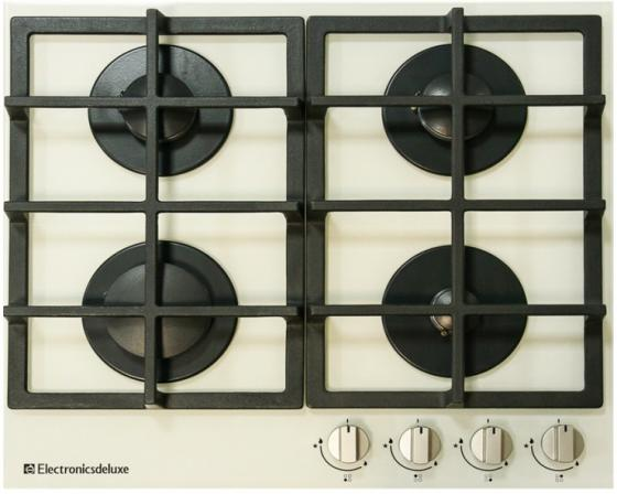 Варочная панель газовая Electronicsdeluxe GG4 750229F -030 бежевый electronicsdeluxe gg4 750229 f 020