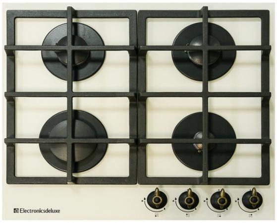Варочная панель газовая Electronicsdeluxe GG4 750229F-016 бежевый газовая варочная панель electronicsdeluxe gg4 750229f 012 черный