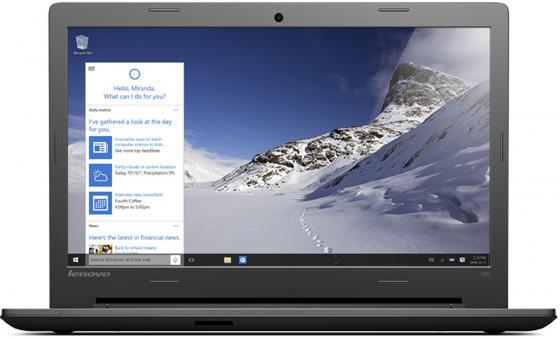 Ноутбук Lenovo IdeaPad 100-15IBY 15.6 1366x768 Intel Celeron-N2840 500Gb 2Gb Intel HD Graphics черный Windows 10 Home 80MJ00DSRK ноутбук asus x553sa xx137t 15 6 intel celeron n3050 1 6ghz 2gb 500gb hdd 90nb0ac1 m04470