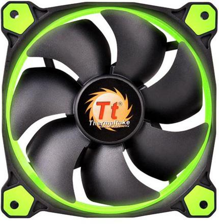 цена на Вентилятор Thermaltake Riing 14 140x140x25 3pin 22.1-28.1dB зеленая подсветка CL-F039-PL14GR-A