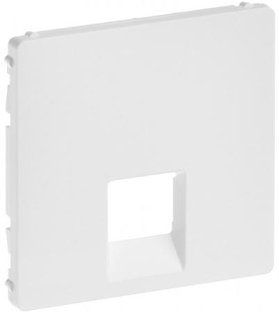 Лицевая панель Legrand Valena Life для одиночных телефонных/информационных розеток белый 755410