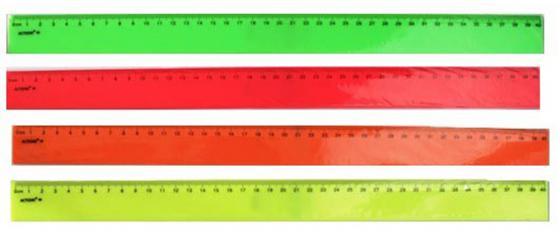 Линейка 30см,флюоресцентная, пластиковая,ассорти3 цв,в инд.пакете с европодвесом APR30/FL линейка 15см черная пластиковая в инд пакете с европодвесом