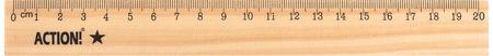 Линейка Action! AWR20 20 см дерево еж стайл линейка коняшка цвет антрацитовый 15 см