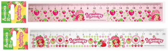 Линейка Action! STRAWBERRY SHORTCAKE 20 см пластик SW-AAR20 в ассортименте цветная бумага action strawberry shortcake a4 10 листов sw ctp 10 10 в ассортименте тонированная