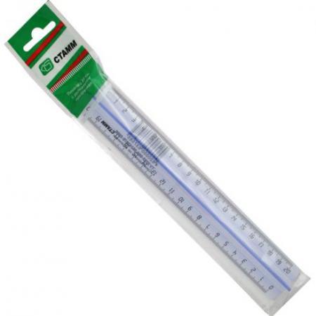 цена на Линейка СТАММ ЛН16 20 см пластик