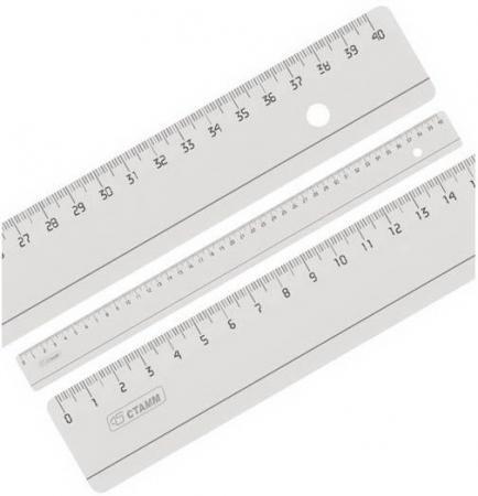 Линейка СТАММ ЛН53 40 см пластик еж стайл линейка коняшка цвет антрацитовый 15 см