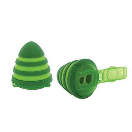 Точилка Action! ВЕРЕТЕНО пластик зеленый двойная, п/п с европодвесом ASH530