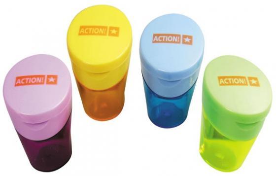 Точилка Action! ASH550 пластик ассорти точилка index ish001 пластик ассорти