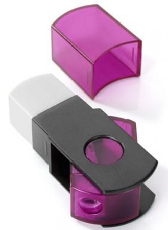 Точилка MINI пластмассовая, с контейнером, прозрачная 481.40.998 точилка пластмассовая техно с прозр мини контейнером картон цвет коробка fsh130