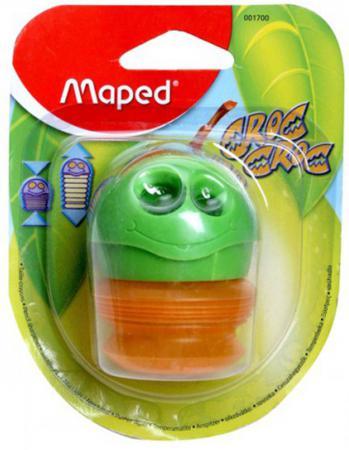 Точилка Maped пластик зеленый 43111 точилка maped astro с ластиком цвет зеленый