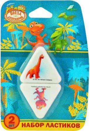 Набор ластиков Action! Поезд Динозавров 2 шт треугольный DT-AER125 DT-AER125 игрушка play smart мой первый поезд 0644 dt