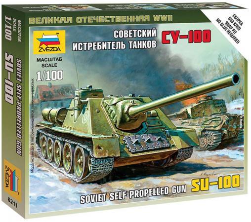 Танк Звезда Советский истребитель танков СУ-100 1:100 хаки