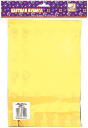 Цветная бумага Fancy Creative FD010005 A4 6 листов канцелярия fancy creative набор цветной голографической бумаги a4 6 цв 6 л