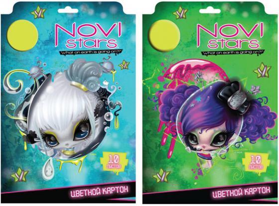 Набор цветного картона Action! NOVI STARS A4 10 листов NS-CC-10/10 в ассортименте набор цветного картона action animal planet a4 10 листов ap cc 10 10 2 в ассортименте