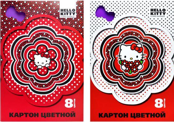 Набор цветного картона Action! HELLO KITTY A4 8 листов HKO-ACC-8/8-3 в ассортименте набор гелевых ручек action hello kitty 3 шт син блистер hko agp155 3