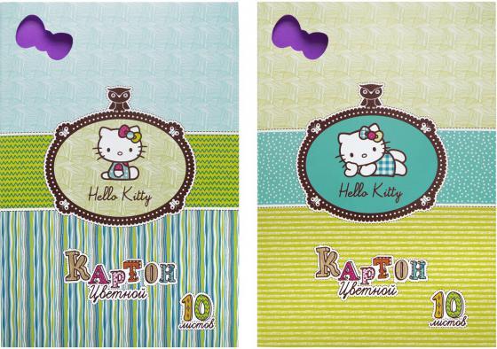 Набор цветного картона Action! HELLO KITTY A4 10 листов HKO-ACC-10/10-2 в ассортименте набор цветного картона action strawberry shortcake a4 10 листов sw cc 10 10 в ассортименте