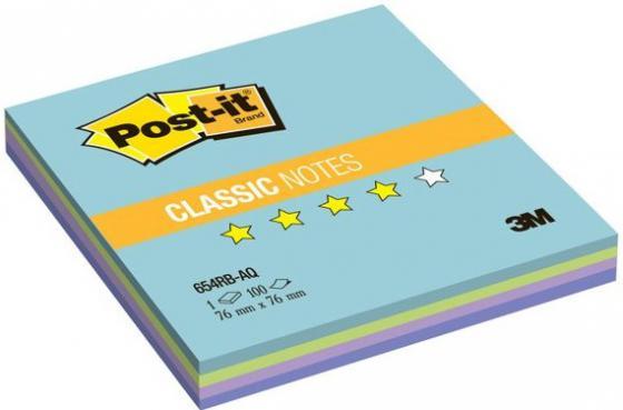 Бумага с липким слоем 3M 100 листов 76x76 мм многоцветный 654-RB-AQ-RU цена и фото