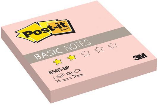 Бумага с липким слоем 3M 100 листов 76x76 мм розовый 654R-BP-RU цена и фото