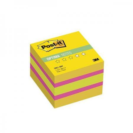 Бумага для заметок с липким слоем POST-IT OPTIMA-Лето 51х51 мм, желтая неоновая радуга, 400 листов 2051-ONY цена и фото