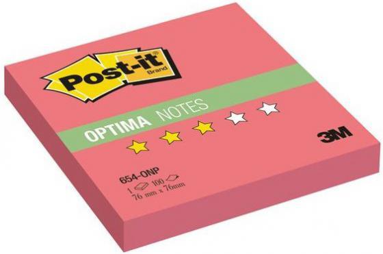 Бумага с липким слоем 3M 100 листов 76x76 мм красный 654-ONP цена и фото