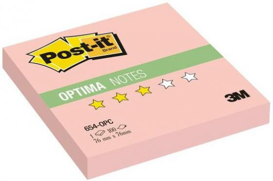 Бумага с липким слоем 3M 100 листов 76x76 мм розовый 654-OPC цена и фото