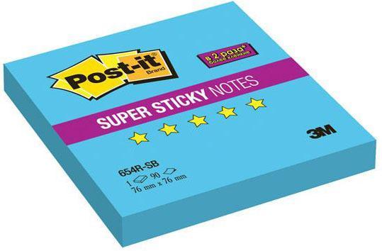 Бумага с липким слоем 3M 90 листов 76x76 мм голубой 654R-SB цена и фото