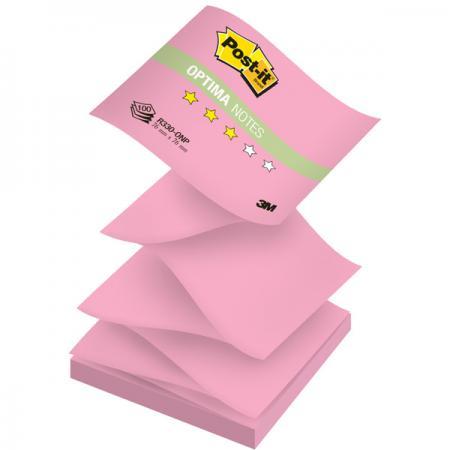 Бумага для заметок с липким слоем POST-IT OPTIMA -Осень, 76х76 мм, розовый неон, Z-слож., 100 л. R330-ONP бумага для заметок с клеевым краем post it optima весна 76 76мм 100л бирюзовый неон