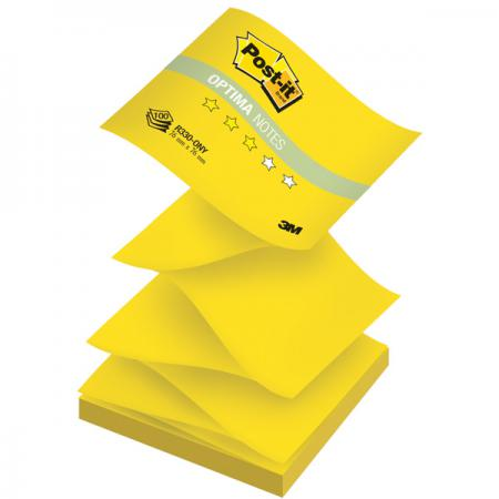 Бумага для заметок с липким слоем POST-IT OPTIMA -Лето, 76х76 мм,желтый неон, Z-слож., 100 л. R330-ONY бумага для заметок с клеевым краем post it optima лето 76 76мм 100л желтый неон