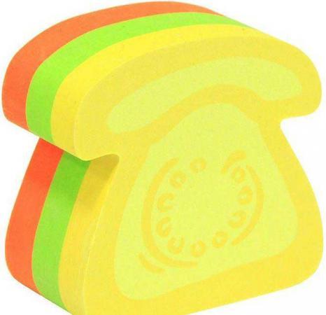 Бумага с липким слоем Global 225 листов 50х50 мм многоцветный ТЕЛЕФОН 584339 телефон