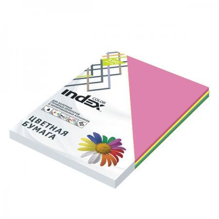Цветная бумага Index Color A4 100 листов ICmixintensiv/4x25/1